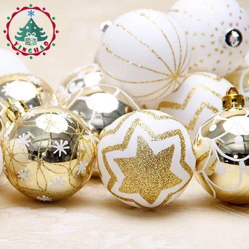 6cm Platinum Painting Christmas Ball Shopping Arcade Pendant School Cafe Bar Party Christmas Tree Supplies Decorative Pendant
