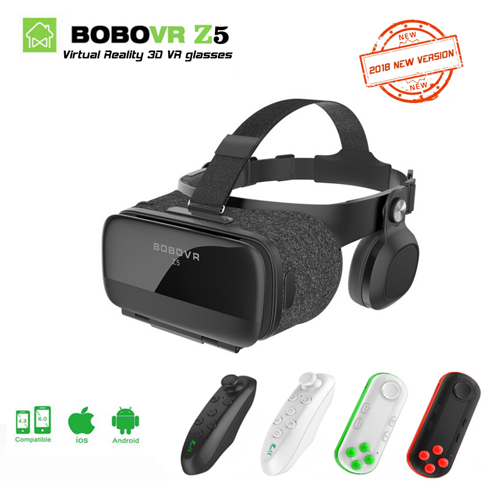 2018 NEW version BOBOVR Z5 Youth Virtual Reality 3D VR glasses Cardboard VR 3D Headset BOX for Android and iOS smartphone 2.0 original vr virtual reality 3d glasses box stereo vr google cardboard headset helmet for ios android smartphone bluetooth rocker