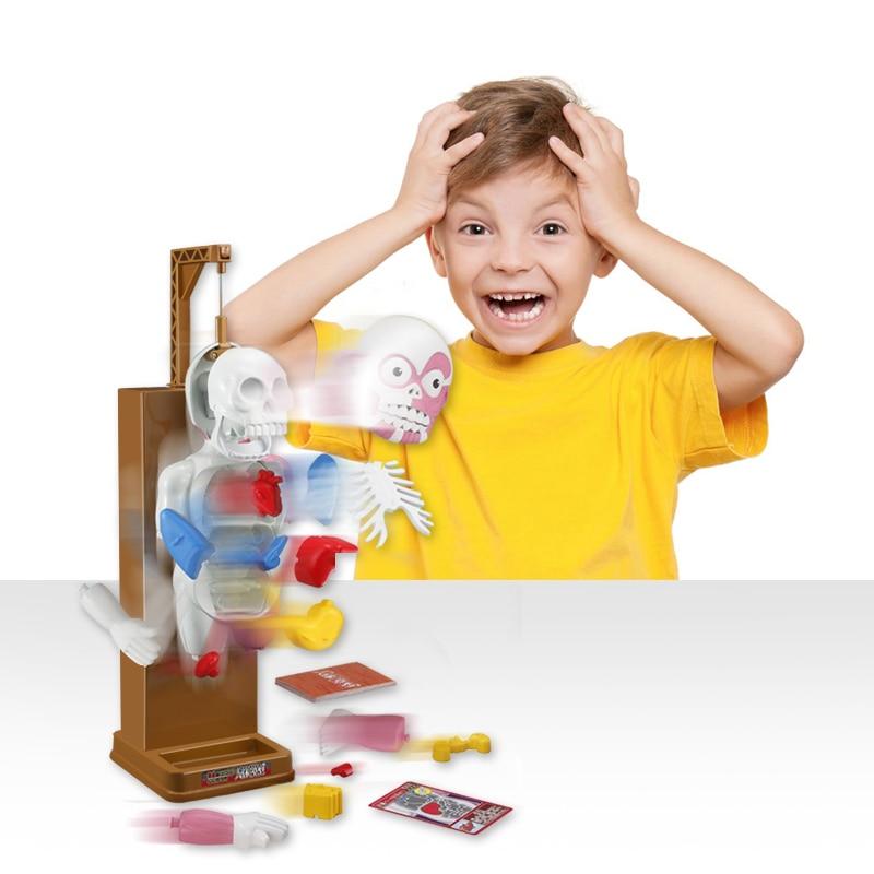 Fun Novelty Gag Toys Trick Practical Joke Gift For Children Kids Assembled Toy Fun Games Human Body Model Antistress Toy