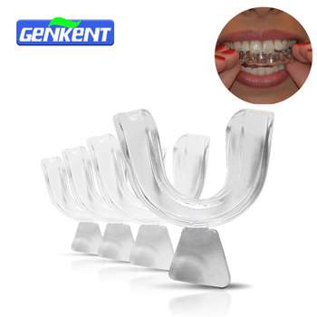 Genkent 2 Pairs Thermoforming Dental Mouthguard Teeth Whitening Trays Bleaching Tooth Whitener Mouth Guard Care Oral Hygiene 1