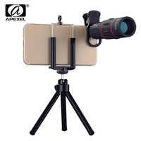 Lente Universal del teléfono móvil del Zoom óptico del telescopio 18X para el lente de la cámara del teléfono móvil del clip del teléfono móvil del iPhone Samsung Xiaomi