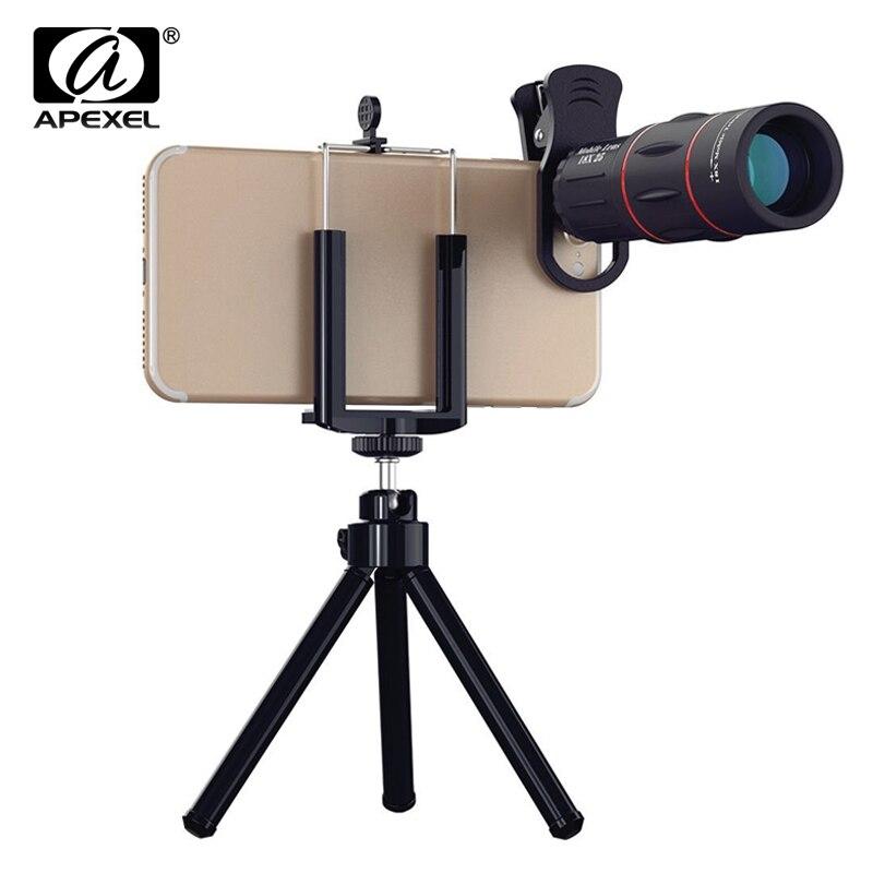 Universal 18X telescopio Zoom óptico del teléfono móvil lente para el iPhone Samsung XIAOMI Smartphones clip teléfono lente de la cámara