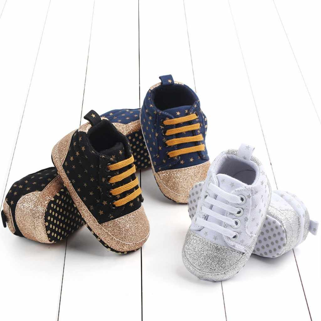 Newborn Baby Toddler Star Print Canvas First Walkers Soft Sole Casual Shoes baby shoes toddler shoes infant sneakers