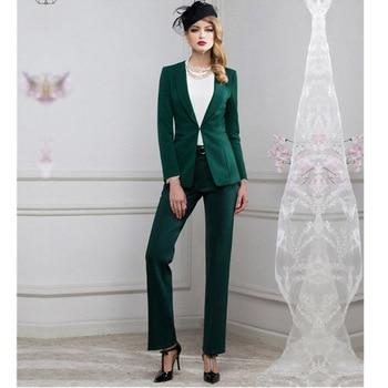 Women Pant Suits Women suit fashion professional OL dress business formal suit jacket + pants high quality custom women's suit