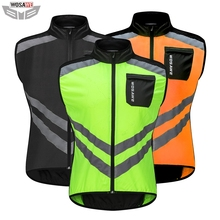 WOSAWE Motorcycles High Visibility Reflective Jacket Safety Cloth MOTO Motocross Off-Road Warning Vest Protection Gear Wind Coat