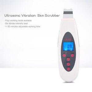Image 3 - חשמלי Scrubber עור קולי קילוף פילינג פנים מנקה נקבובית מרית LCD אולטרסאונד רטט פנים ניקוי מכונת