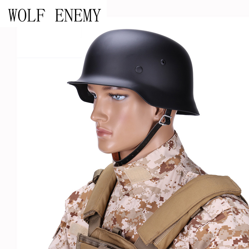 WW2 WWII German Elite M35 M1935 Steel Tactical Helmet Black Olive Drab tactical helmet motorcycle helmets wwii german helmet m35 helmet classic engraved