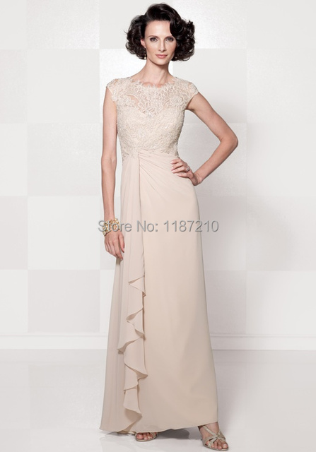 2015 Plus Size Mother of the Bride Groom Dress Modest Lace Cap ...