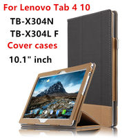 Case Cover For Lenovo TAB4 10 Smart Covers Protective Leather Tablet PC Tab 4 10 TB