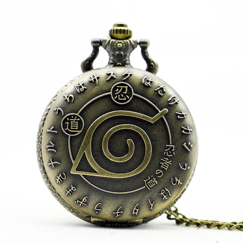 2017 Cartoon Naruto Watch Naruto Pocket Watch Ninja Relojes Mujer Quartz Watch Necklace Gift