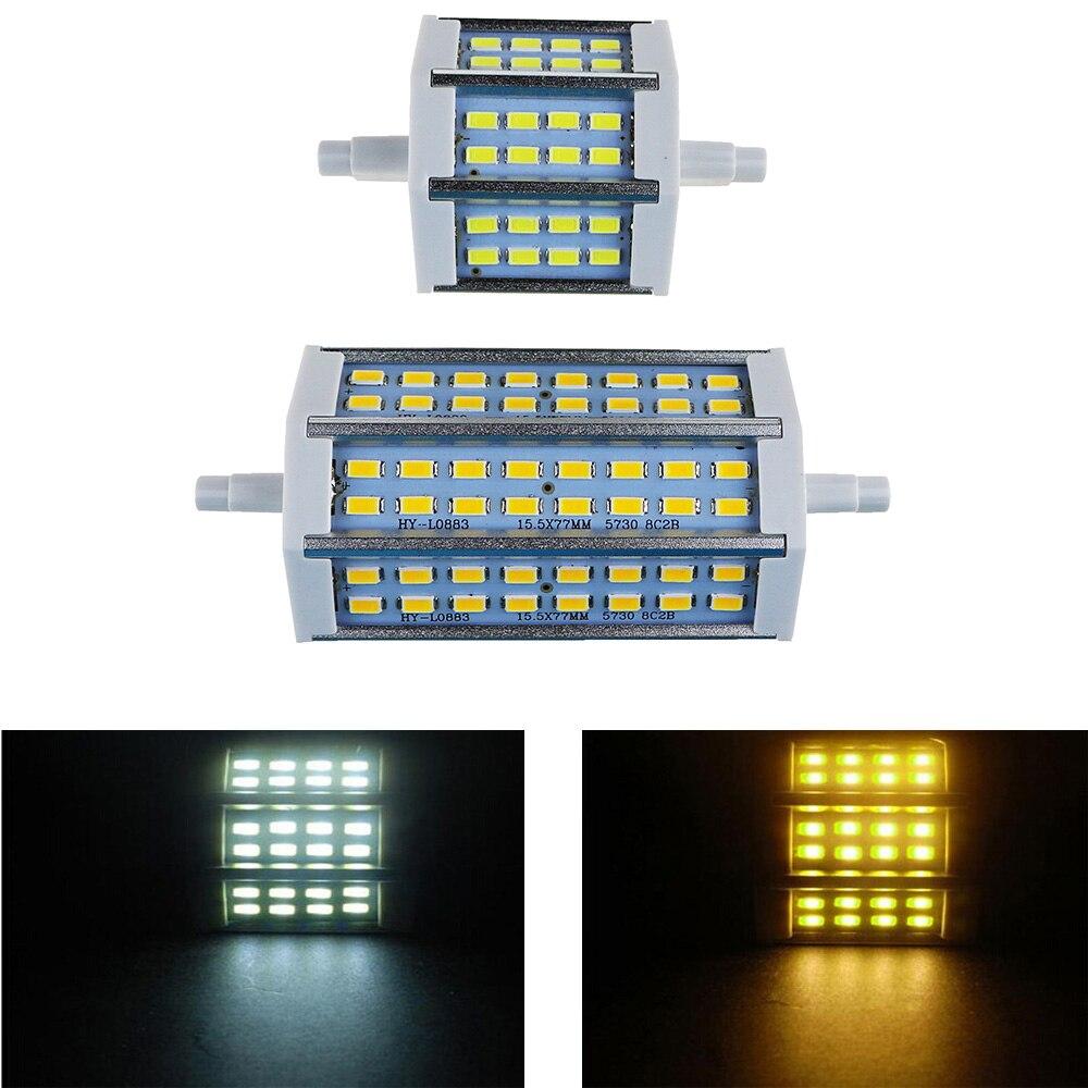 R7S LED Lamp SMD5730 78mm 118mm LED R7S Light Bulb 85V -265V 110V 220V Energy Saving Perfect Replace Halogen Light Lampada 1PCS