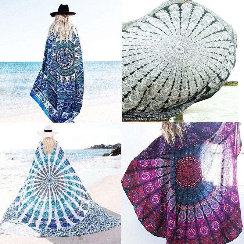 <font><b>Indian</b></font> Mandala Round <font><b>Bohemian</b></font> Women Scarves Hippie Scarf Girl Wraps <font><b>Tapestry</b></font> Throw Wall Hanging Blanket Beach Towel Mat 21