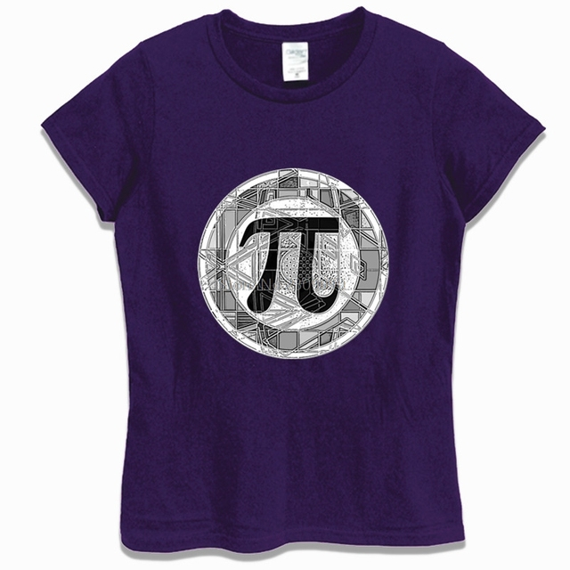 Summer Funny Pi Day Symbol Round T-shirt Women Cotton Short Sleeve T Shirt Casual Shirt Hip Hop Tees Tops Harajuku Streetwear