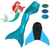 New Kid Girl Adult Women Spark Le Swimmable Mermaid Tail Mono Fin Filpper Swimwear Costume Wear