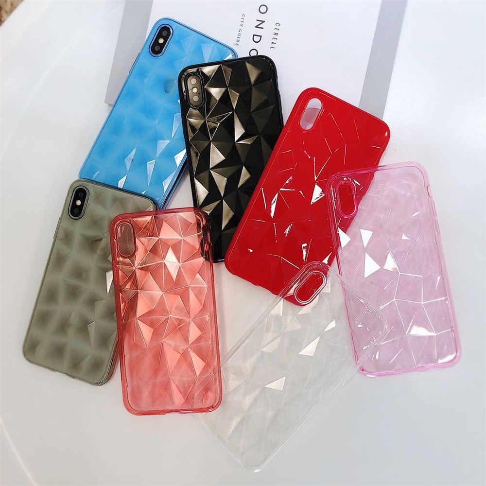 3D Diamant Telefoon Case Voor iPhone X XR XS Max 8 7 6 6s Plus 5 5S Se ultra Dunne Soft Volledige Cover voor iPhone 8 7 6 Transparante Gevallen