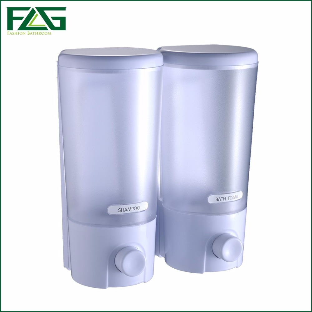 flg wall mount soap sanitizer shower bath shampoo dispenser