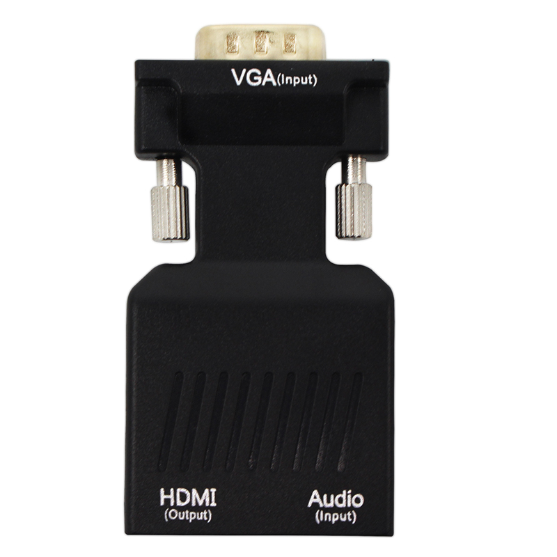 VGA ao Conversor de HDMI 1080 P VGA para HDMI adaptador de Vídeo com 1080 P para PC Portátil para HDTV Projetor com cabo de áudio