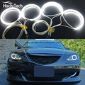 HochiTech Kit Angel Eyes para Mazda 3 mazda3 2002 2003 2004 2005 2006 2007 Ultra brilhante farol de iluminação CCFL Anjo olhos