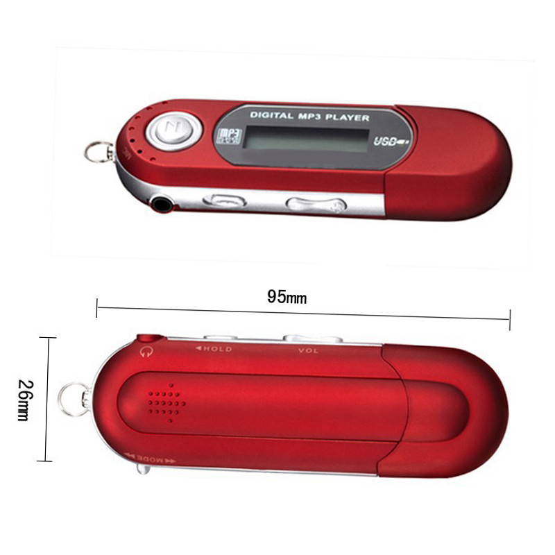 Popular Cute MP3 TF Card Players USB 2.0 Flash Memory Stick LCD Memory Stick Mini Sports MP3 Music Player With FM Radio