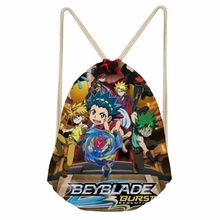 FORUDESIGNS Cartoon Anime Beyblade Burst Evolution Drawstring Bags for Baby Boys School Bagpack Children Pouch Kids Mochila 2018(China)