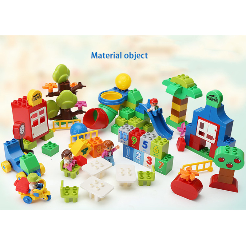 Compatible Legoe Duplo 106pcs Large Particle Building Blocks Toys