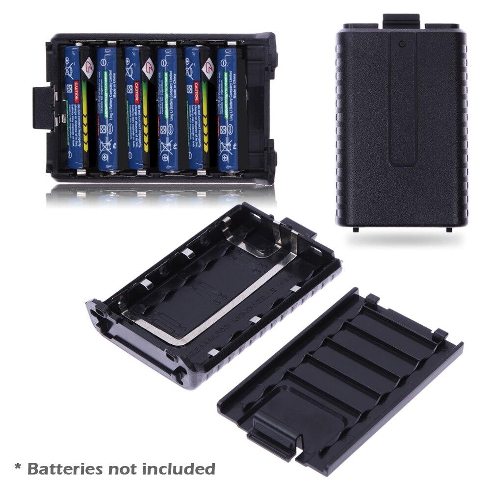1 pcs 6 x AAA Batterie Prolongée Cas Boîte batterie shell pour Baofeng UV-5R 5RA/B/C/D 5RE + (batterie ne pas inclure)