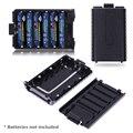 1 unids Extendió La Caja de Batería de 6 x AAA Caja de batería de shell para Baofeng UV-5R 5RA/B/C/D 5RE + (batería no incluir)