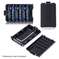 1pcs  6 x AAA Extended Battery Case Box BATTERY pack shell  for Baofeng UV-5R 5RA/B/C/D 5RE+ (battery not include)