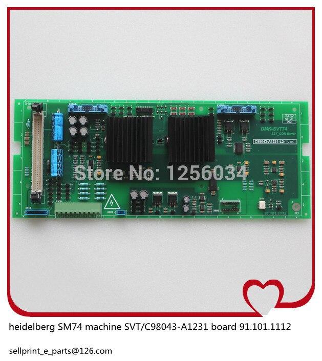 2 pieces heidelberg MO machines power board SVT 91.101.1112 C98043-A1231 91.101.1112 басовый усилитель ampeg svt 7pro