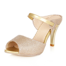 2014 women's shoes princess high-heeled shoes sweet fashion open toe rhinestone thin heels sandals