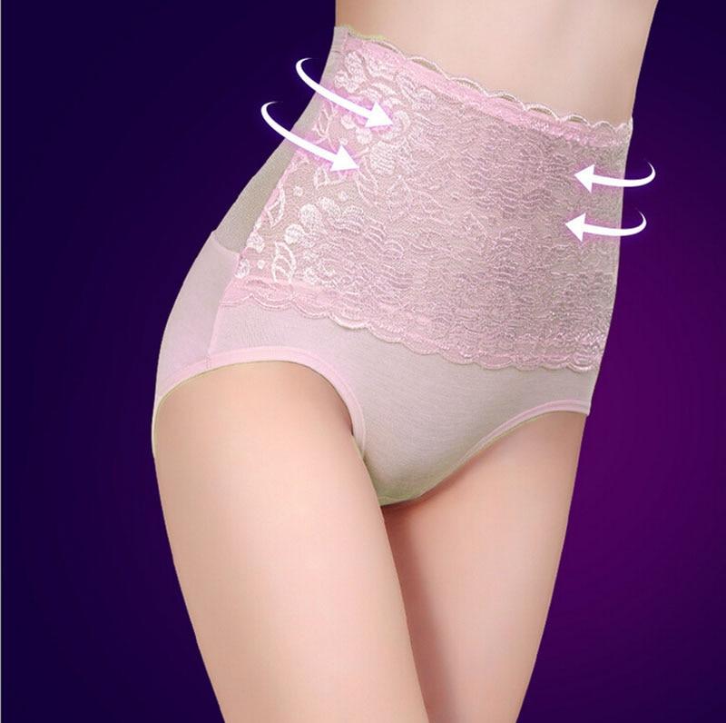 Plus Size High Waist Sexy Women Seamless Cotton Transparent Lace Panties Underwear Women Tanga Bragas Lingerie Culotte Femme