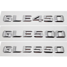 GLE450 GLE500 GLE550 Trunk Rear Emblems Badge Letters Alphabet Sticker for Mercedes Benz GLE Class W292 Car Styling