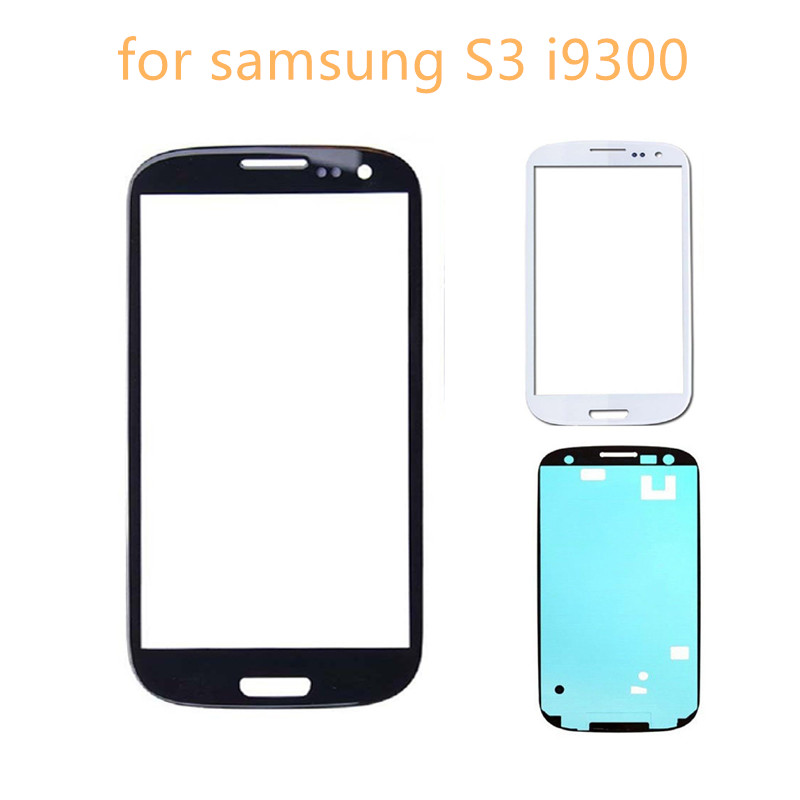 Outer Glass LCD Display Replacement For Samsung Galaxy S3 I9300 I9305 I9300i I9301 I9301i Front Panel Lens Free Adhesive