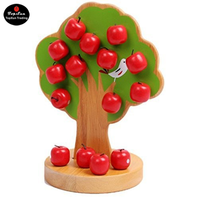 Christmas Number One Toy For Boys : Topsun magnetic christmas apple tree preschool toys for