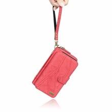 Megshi Многофункциональный ретро портфель кожаный чехол для LG G6 кошелек на молнии чехол телефон случаях женские стиль сумки крышка G6