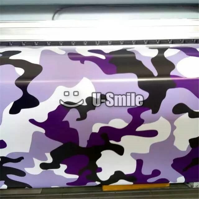 e0d7dcb096 Large Elite Purple Camouflage Vinyl Decal Wrap Sheet Black Purple Camo Vinyl  Sticker For SUV TRUCK Jeep 30M Roll