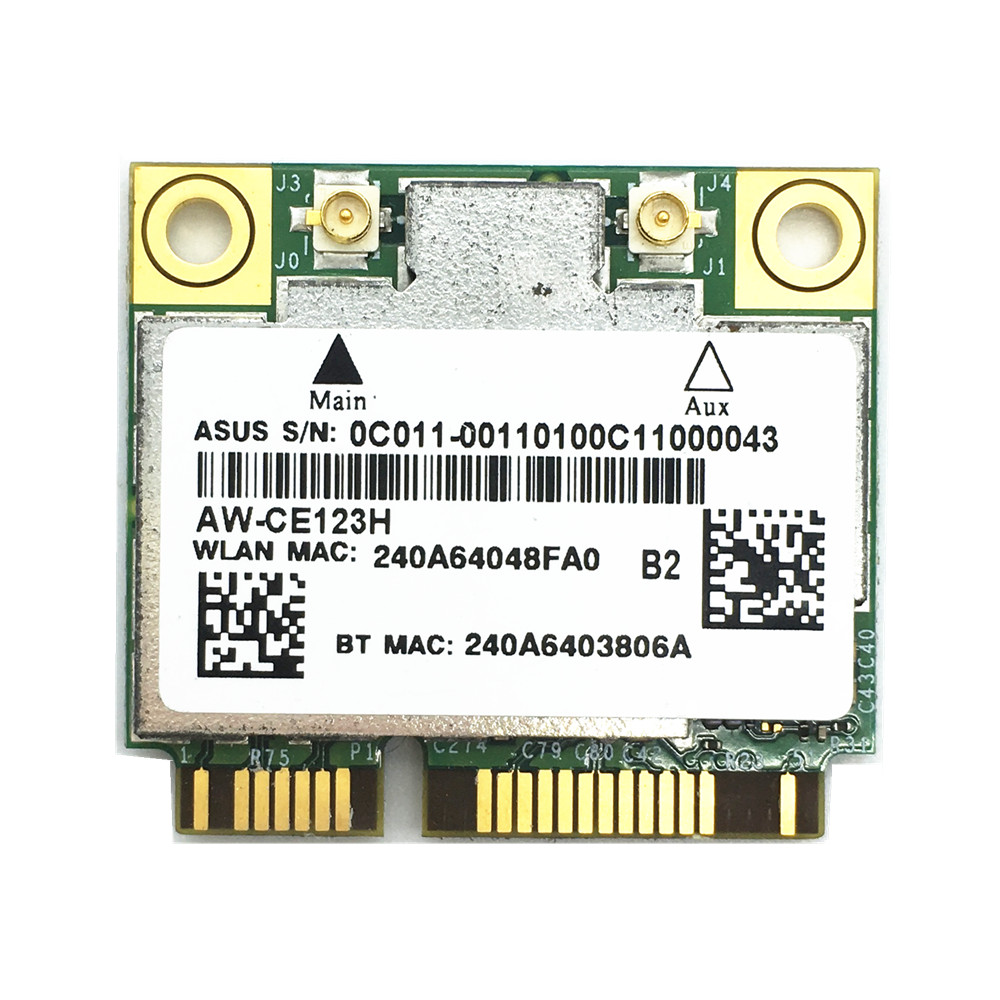 Prix pour Hauteur azurewave Broadcom BCM94352HMB 802.11ac 867 Mbps Sans Fil-AC WLAN + Bluetooth BT 4.0 Demi Mini PCI-E Sans Fil Wifi carte AW-CE123H