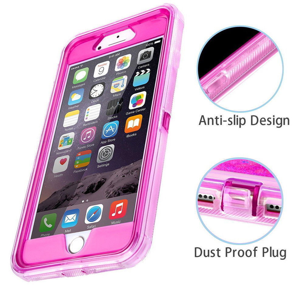 MAYROUND Hybrid 3D Glitter Armor Case for iPhone 11 Pro Max Dynamic Quicksand Shockproof Phone Cases Covers for XsMax 6S 7 Plus