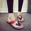 Южная Корея милый мультфильм Микки Минни Маус женщины повседневная пробковые тапочки отдыха удобные сандалии летние прохладно сандалии #0001