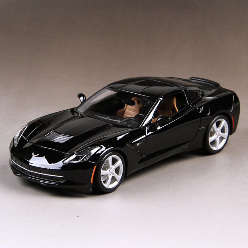 1:18 diecast Car Corvette C7 Z51 Black 1:18  Diecast Car Metal Racing Vehicle Play Collectible Models Sport Cars toys For Gift