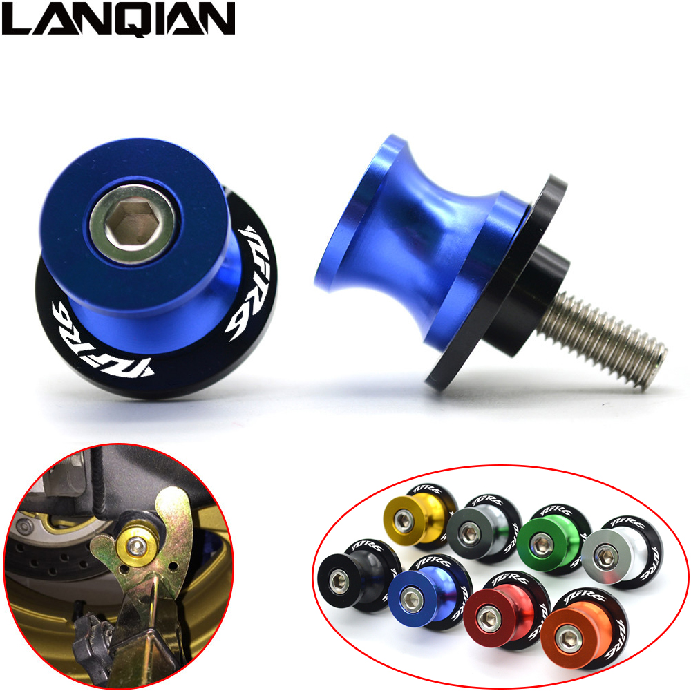 NEW M6 For YAMAHA YZF R6 CNC Aluminum Motorcycle Accessories Swingarm Spools Slider 6mm Swing arm Stand Screws With YZF-R6 LOGO 2pcs universal motorcycle stand screws cnc swingarm swing sliders spools m6 m8 m10 for yamaha r3 honda crf 450 suzuki gn250