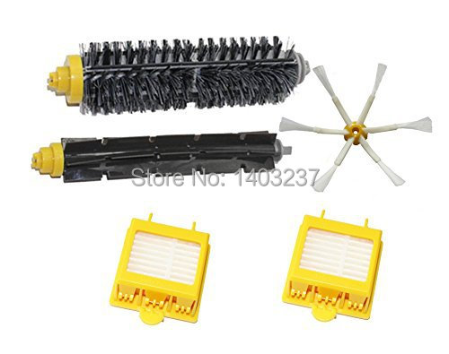 Replacement Hepa Filters Bristle Brush Flexible Beater Brush 6-Armed Side Brush Kit for iRobot Roomba 700 Series 760 770 780 790 hepa filters bristle brush flexible beater brush 3 armed side brush pack set for irobot roomba 700 series 760 770 780 790