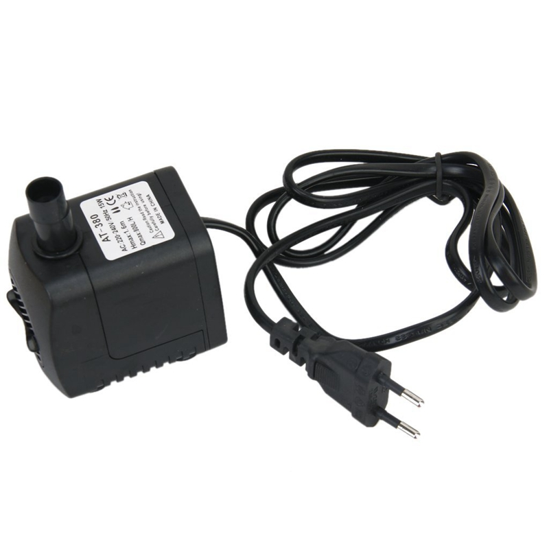 HOT- AC <font><b>220</b></font>-240V 15W Submersible <font><b>Pump</b></font> <font><b>Water</b></font> <font><b>Pump</b></font> Fountain Pond <font><b>Pump</b></font> Aquarium EU Plug Submersible <font><b>water</b></font> <font><b>pump</b></font> for aquarium image