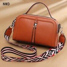 цена NMD genuine leather square shoulder bag with 3 zipper windows and 2 shoulder straps from the famous designer woman bag 2019 онлайн в 2017 году