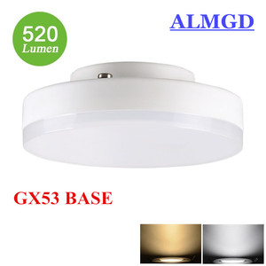 9W GX53 LED Lamp light 5W 7W Mini Round lights super bright led bulb GX 53 220v 230v 240v Ceiling Downlight Spotlight(China)