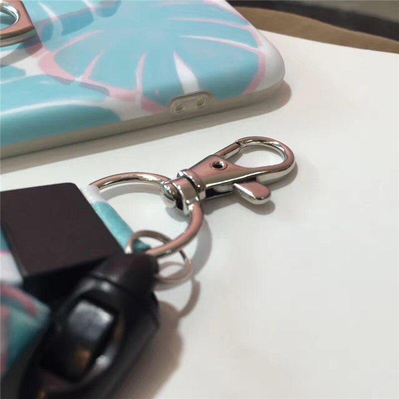 cb9ab923ff5627 Simple Fresh Light Blue Leaf for iPhone 6 6s Case Fashion Multi function  Finger Ring Phone Case for iphone 6 6s Plus Case Coque on Aliexpress.com