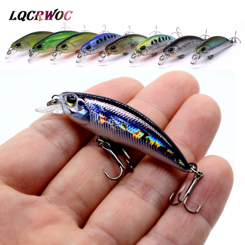 NEW 50mm 4g Minnow Stream Fishing lure Mini Trout baits small whopper vibrating light sinking micro fish crankbait japan winter image