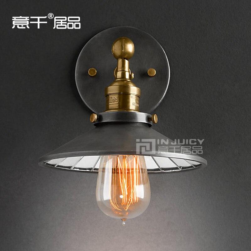 ФОТО RH LOFT Edison American Rural Industrial 22CM Mirror Single Head Decorative Wall Lamp