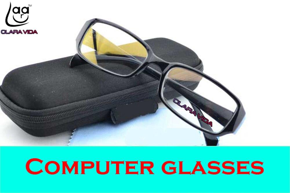 CLARA VIDA ANTI RADIATION BLUERAY DISCOUNT GOLD FILM COATED COMPUTER GLASSES MEN WOMEN