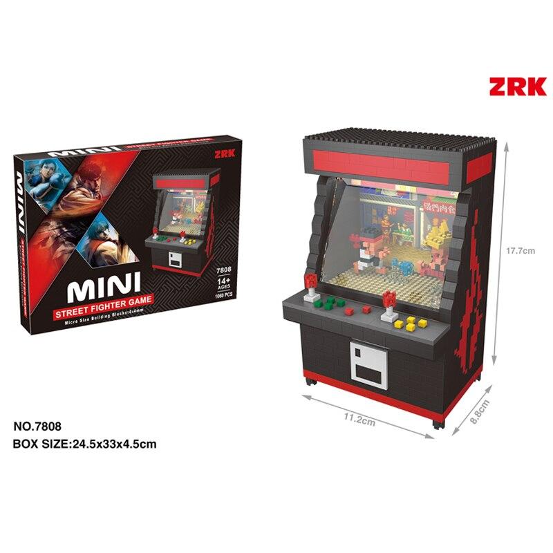 Image 3 - Fighter Game Model UFO CATCHER Building Bricks Brinquedos for Kids Gift 7808 ZRK Mini Blocks Cartoon Building Toy  VS loz-in Blocks from Toys & Hobbies